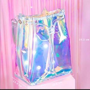 Holo bucket bag